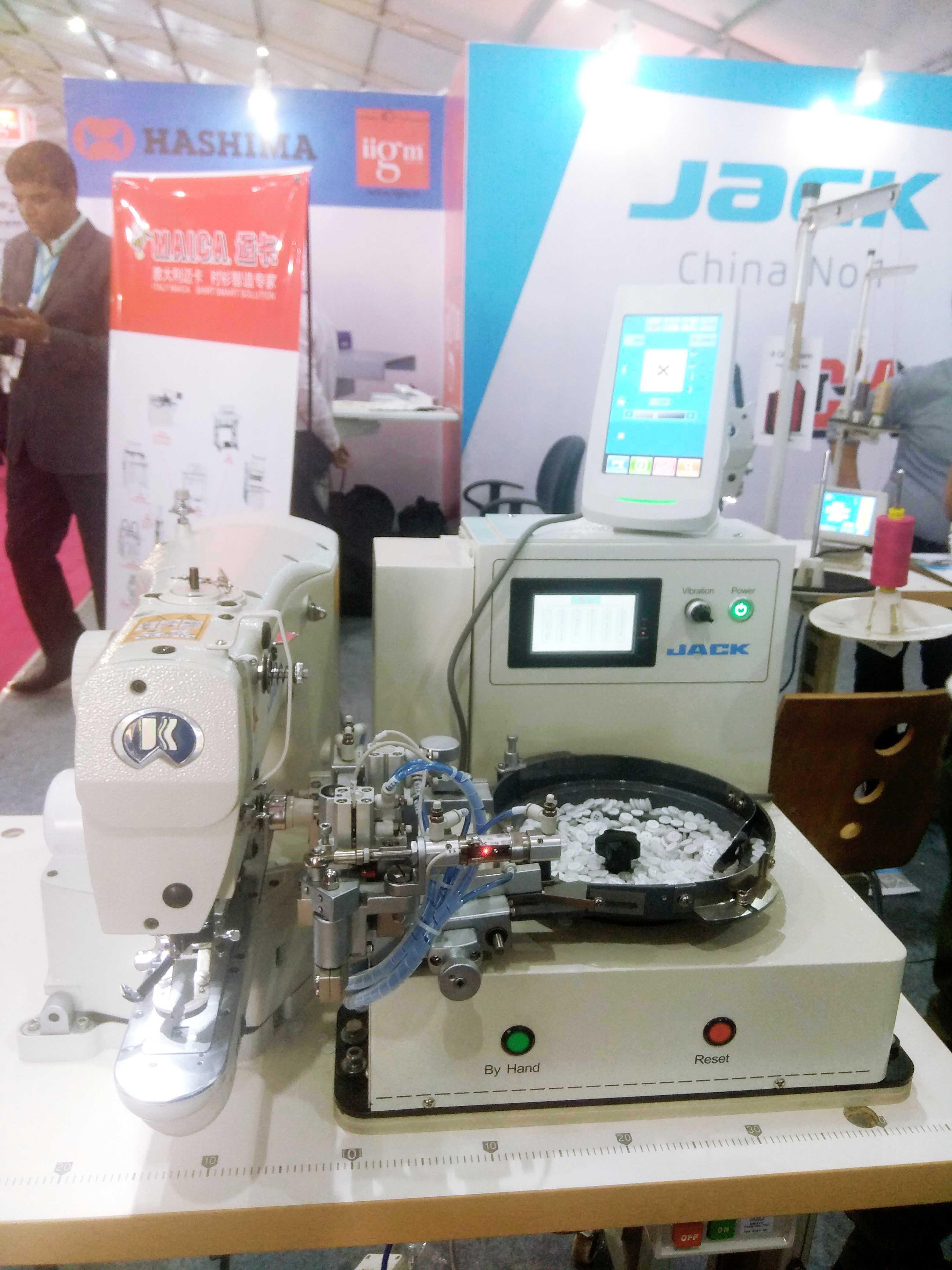 Jack's sewing machine on display at GTE 2019