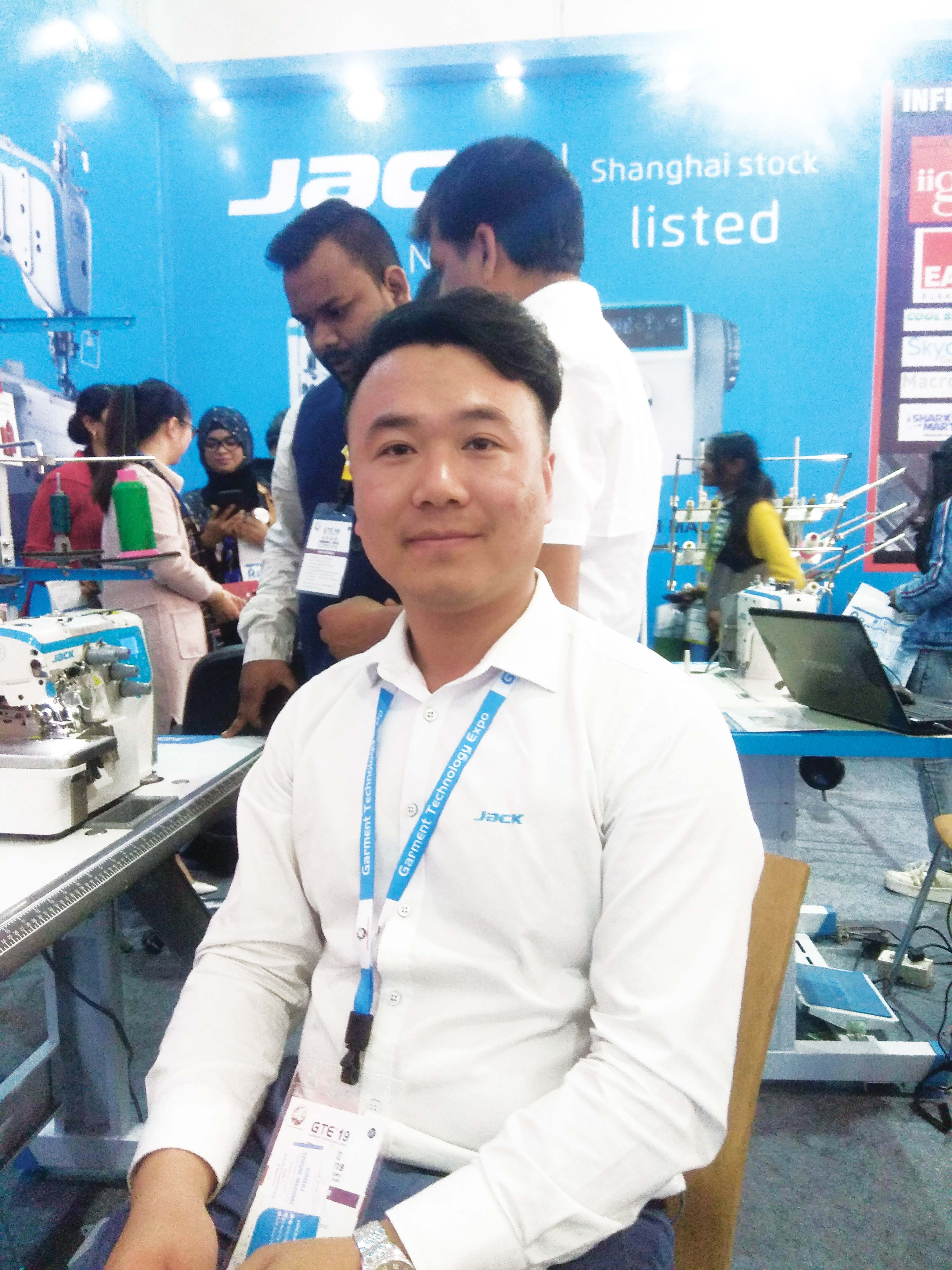 Tony, Sales Manager of South Asia Department, Jack