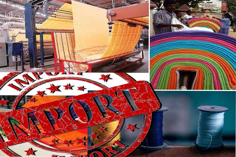 INCREASE IN IMPORT DUTY ON OVER 200 TEXTILE PRODUCTS
