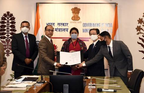 Ministry of Textiles signs MoUwith M/s Nissenken Quality Evaluation Centre, Japan
