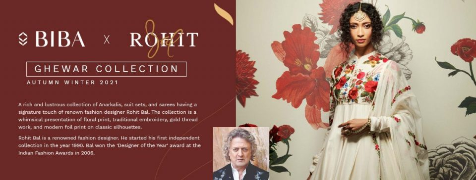 Biba collaborates with Rohit Bal for occasion Women's wear